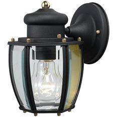 Hardware House Outdoor Wall Lantern - Textured Black