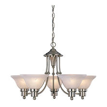 Hardware House Bristol 5-Light Chandelier - Brushed Nickel