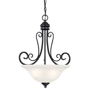 Hardware House Tuscany 3-Light Chandelier - Textured Black