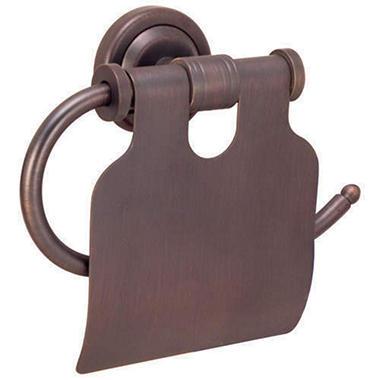 Toledo Classic Bronze Toilet Tissue Holder w/Lid