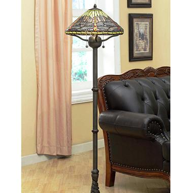 Tiffany Style Dragonfly Floor Lamp