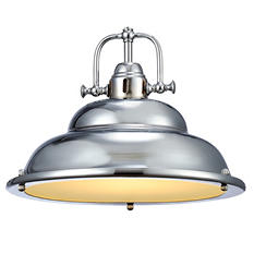 Soho Brushed Nickel Finish Single Light Pendant