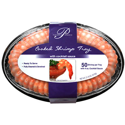 Rubicon Cooked Shrimp Tray - 50 ct.