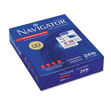 Navigator - Premium Multipurpose Paper, 24lb, 99 Bright, 8-1/2 x 11