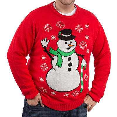 Blitzen & Co. Snowman Christmas Sweater