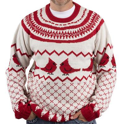 Blitzen & Co. Cardinal Christmas Sweater