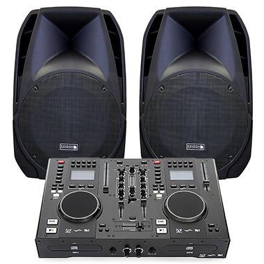 Edison Scratch 2500 Professional Portable DJ System