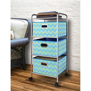 Bintopia Mini 3-Drawer Decorative Fabric Cart