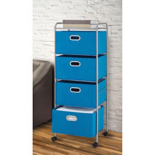 Bintopia 4-Drawer Fabric Cart - Dark Cyan