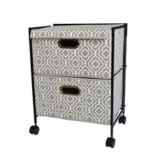 Bintopia Folding 2-Drawer Trolley Cart (Multiple Designs Available)
