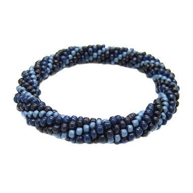 Beads of Hope Seed Bead Bracelet - Navy