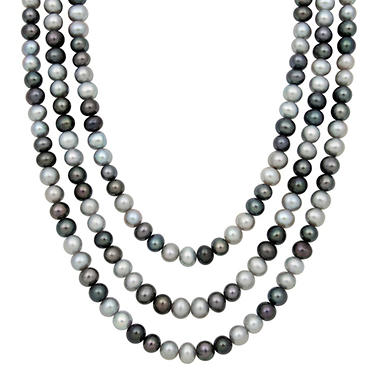 "64"" Endless Multi-Colored Freshwater Pearl Necklace"