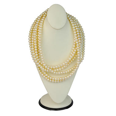 "100"" Endless White Freshwater Cultured Pearl Necklace"