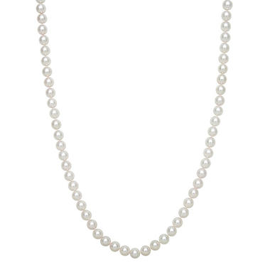 6.0-6.5mm Cultured Akoya Pearl Strand Necklace in 14K Yellow Gold
