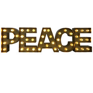 Peace Marquee Sign