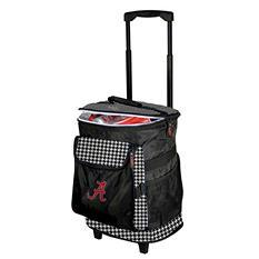 Alabama Houndstooth Rolling Cooler