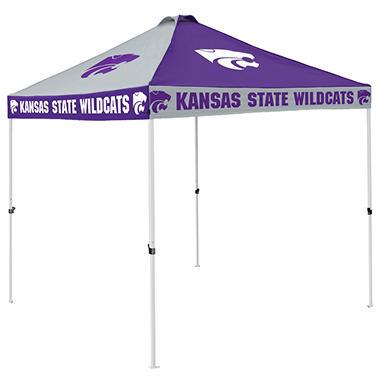 9x9 NCAA Kansas Checkerboard Canopy