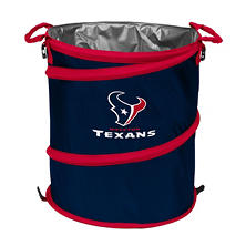 3-In-1 Collapsible Cooler Hamper Wastebasket Houston Texans