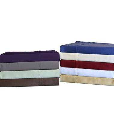 Brielle Bamboo Pillow Case Set, 100% Rayon from Bamboo - Various Sizes and Colors