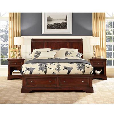 Savannah Queen Bed w/ Ample Storage Footboard
