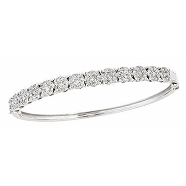 2.50 ct. t.w. Diamond Bangle Bracelet in 14K White Gold (H-I, I1)