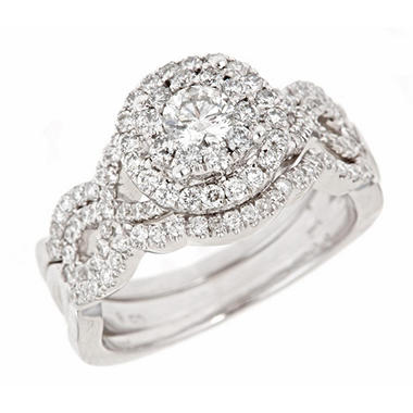 1.25 ct. t.w. Round Cut Diamond Engagement Ring in 14K White Gold (H-I, I1)
