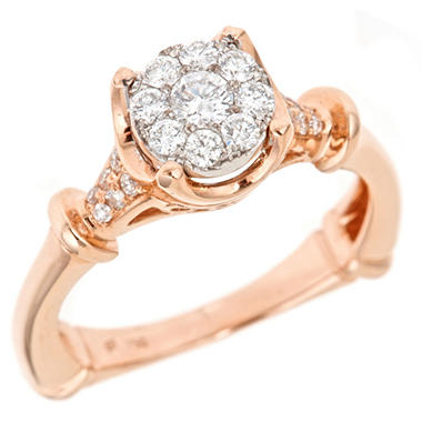 0.45 ct. t.w. Round Diamond Fashion Ring in 14k Rose Gold (H-I, I1)
