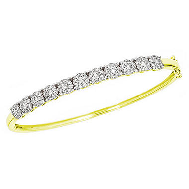 1.50 ct. t.w. Diamond Bangle Bracelet in 14K Yellow Gold (H-I, I1)