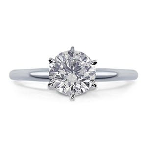 1.00 CT. Round Diamond Solitaire Engagement Ring in 14K Gold (H, VS2)