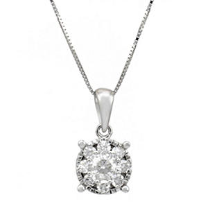 .50 ct.t.w. Diamond Pendant in 14k White Gold (HI-I1)