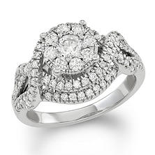 1.20 CT. T.W. Diamond Composite Engagement Ring in 14K White Gold (I/I1)