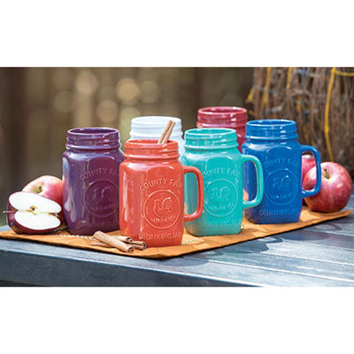 Mason Jar Mugs 6-Piece Set