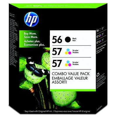 HP 56/57/57 Original Ink Cartridge, Black/Tri-Color (3 pk., 520 Page Yield)