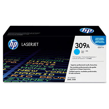 HP 309A Original Laser Jet Toner Cartridge, Select Color (4,000 Yield)
