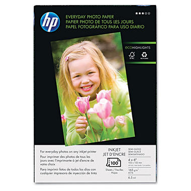 4x6 Glossy Everyday Photo Paper - 100/pk