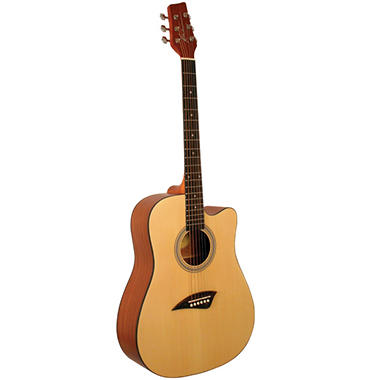 Kona Dreadnought Acoustic Guitar with Natural Satin Finish