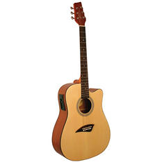 Kona Dreadnought Acoustic  Electric Spruce Top Guitar with High  Gloss Finish