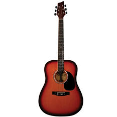 Kona Acoustic Dreadnought Guitar in Tobacco Sunburst Finish