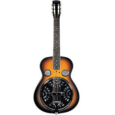 The Trinity River Mudslide Resonator Guitar with Square Neck and Tolex Covered, Hard Case