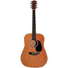 Main Street Acoustic Dreadnought Guitar in Natural Finish