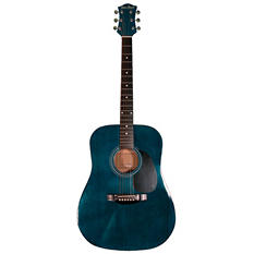Main Street Acoustic Dreadnought Guitar in Transparent Blue