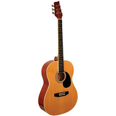 "Kona 39"" Acoustic Natural Finish Guitar"