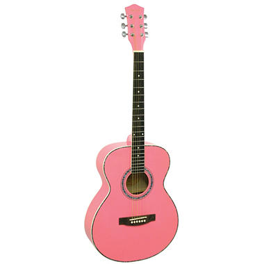 Main Street 40  Inch Acoustic Guitar with  Pink Finish
