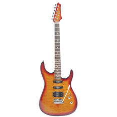 Kona Quilted Top Double Cutaway Electric Guitar in Cherry Sunburst