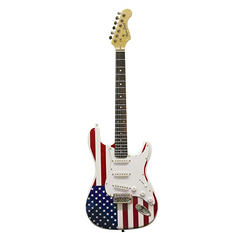 Main Street Double Cut away Electric Guitar With American Flag Body