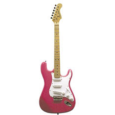 Main Street Double Cutaway Electric Guitar with Pink Laminated body