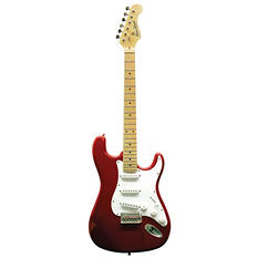 Main Street Double Cutaway Electric Guitar with Red Laminated Body