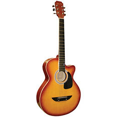 Main Street 38  Inch Acoustic Guitar with High Gloss Tobacco Sunburst Finish