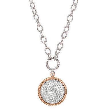 .96 ct. t.w. Diamond Rose Gold Pendant (H-I, I1)