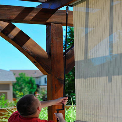 Tropic Bahama Crank Operated Shade - Multiple Sizes Available